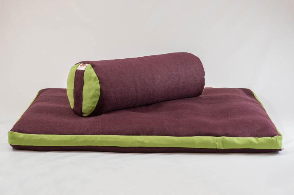 Pernă Set Meditație Zabutan EcoYoga Apple #Bordo 1 cu Husă Detașabilă