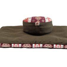 Pernă Set Meditație Zabutan EcoYoga Kolossal #Verde 4 cu Husă Detașabilă
